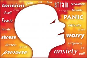 A person is feeling anxious and stressed out.