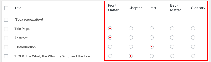 Select what type of post a section is imported as
