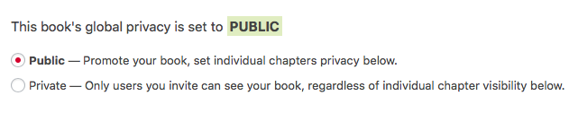 Global Privacy setting on the Organize page