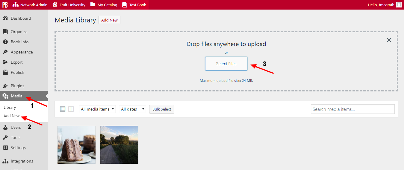 Click select file to upload an image