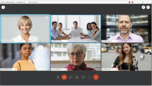 Grid Layout view of Video Thumbnails in a Webex Meeting